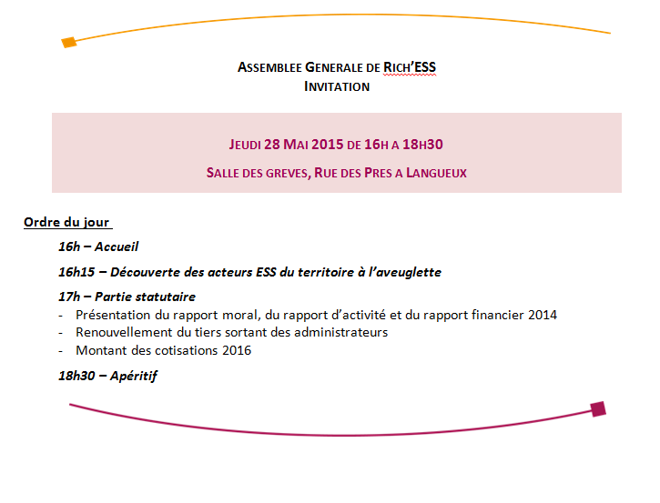 Invitation AG 2015 Rich'ESS